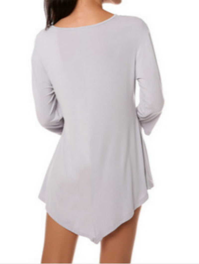 Women Casual A-line Half Sleeve Solid  T-shirt