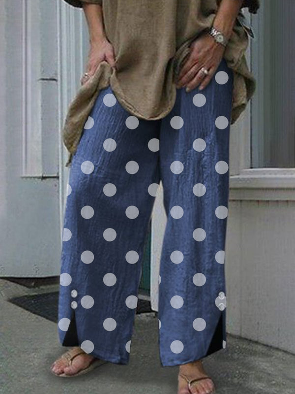 Polka Dots Casual Women All Season Pants