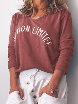 Casual Cotton-Blend Long Sleeve Shirts & Tops