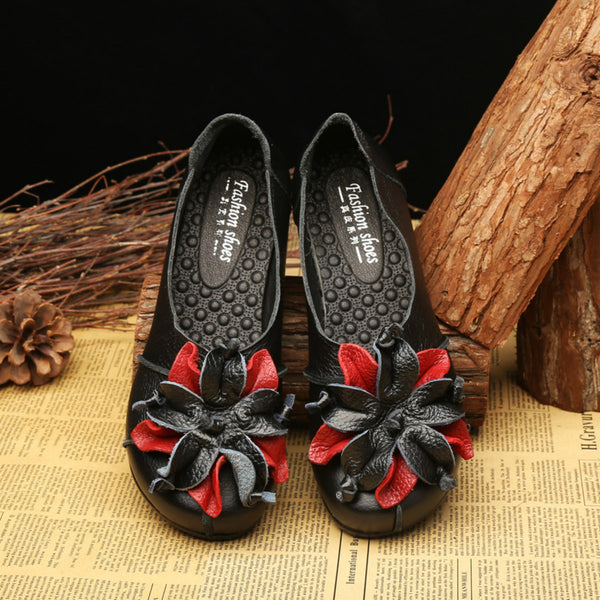 Casual Flower Round Toe Slip-On Flats