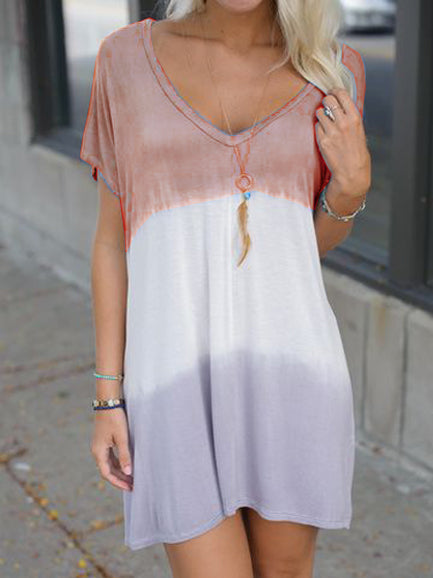 Casual Short Sleeve Cotton Dresses