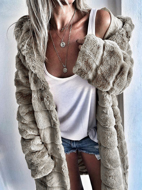 Womens Thick Faux Fur Hooded Parka Plus Size Peacoat Winter Coats Jackets