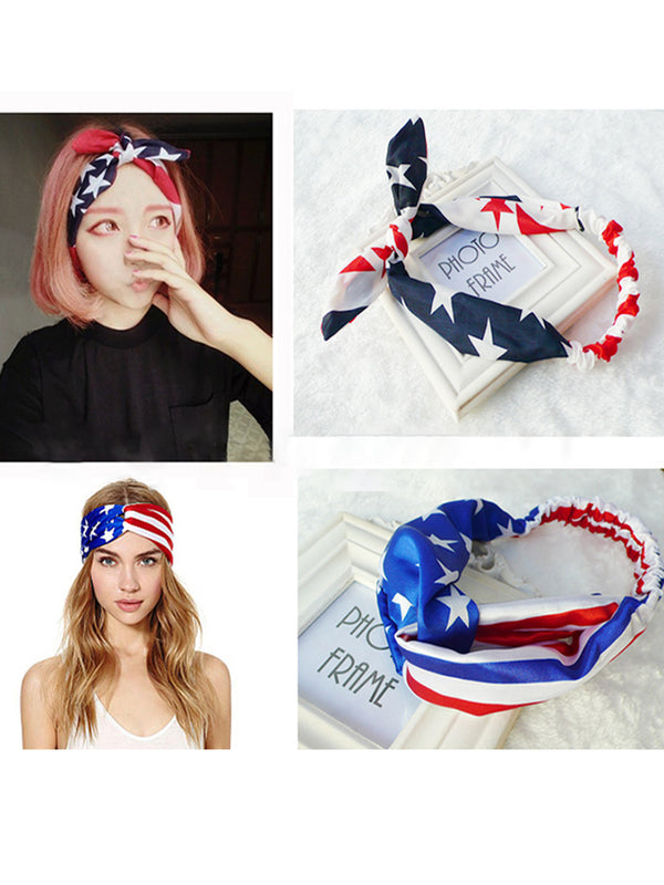 Womens Flag Printed Headbands