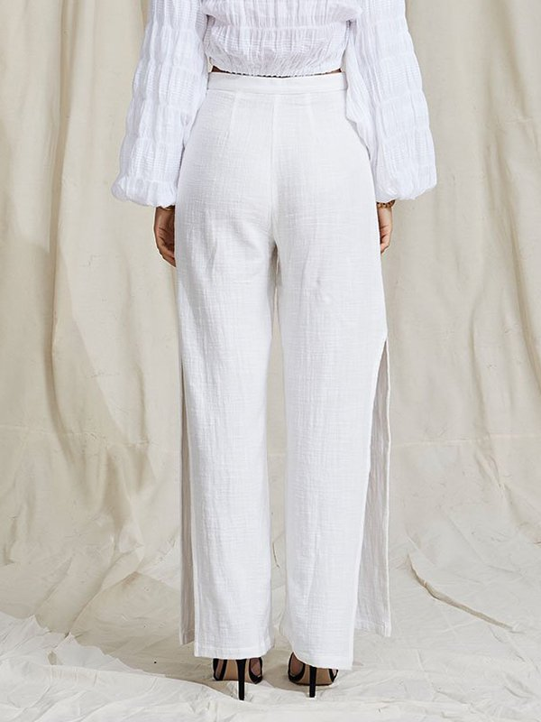 Fashion Casual Cotton-Blend Going out Pants