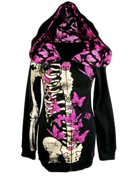 Casual Halloween Long Sleeve Plus Size Hoodie Tops