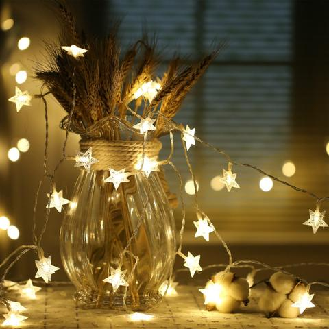 LED Star String Lights Flash Lights 3/ 6 Meters Battery Type Home Decor