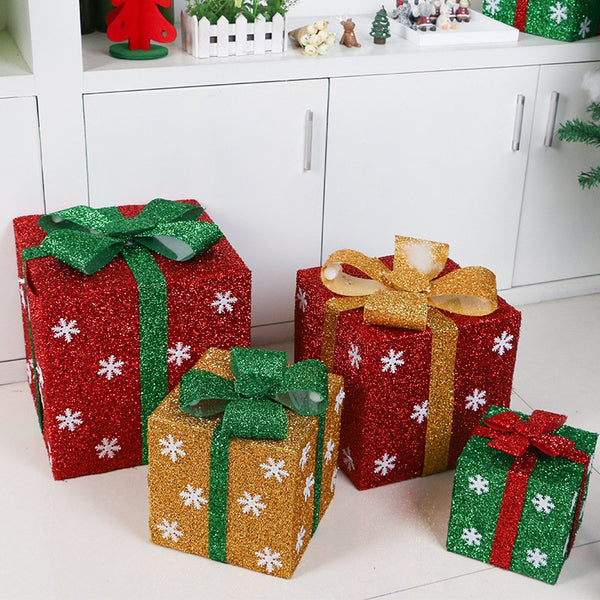 Christmas Decorations Snowflake Gift Box Supermarket Home Decor