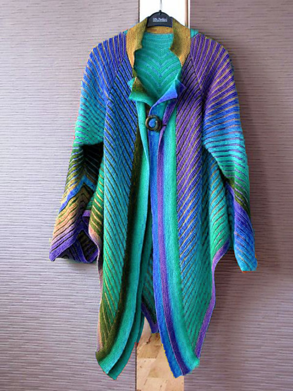 Casual Long Sleeve Plus Size Cardigan