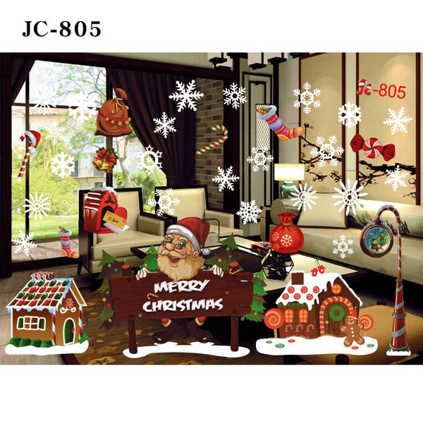 Lovely Christmas Deer Wall Window Sticker Festival Decoration Home Decal