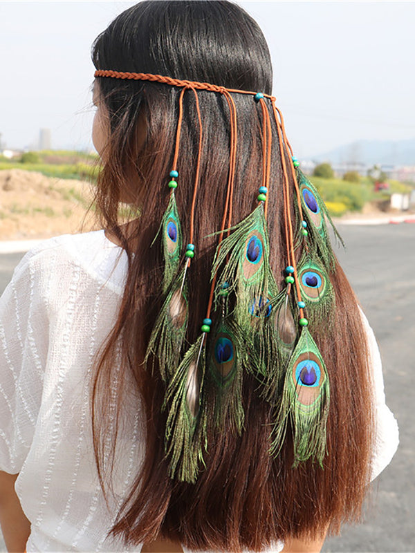 Green Boho Headdres