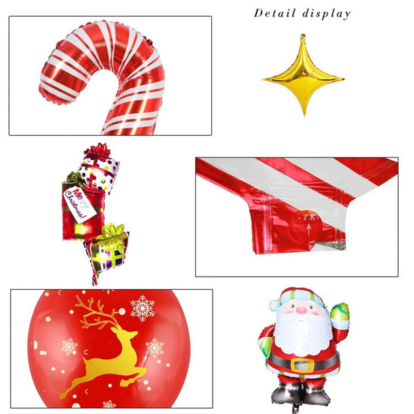Santa Claus Balloon Set Holiday Atmosphere Layout Christmas Balloon Party Decoration Tool