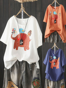 Cotton Short Sleeve Shirts & Tops