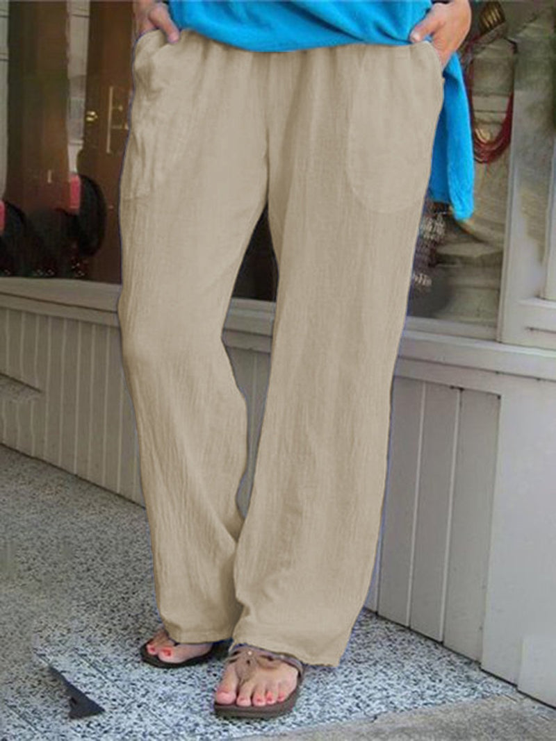 Pure Color Casual Plus SIze Loose Pants