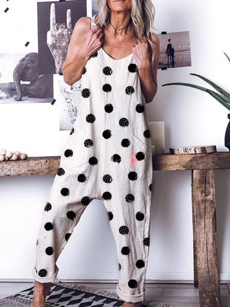 Casual Polka Dots One-Pieces