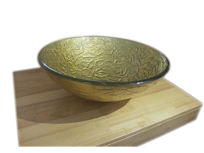 LUXURY GOLDEN GLASS BASIN SINK WASH BOWL Product No.  ZK 202