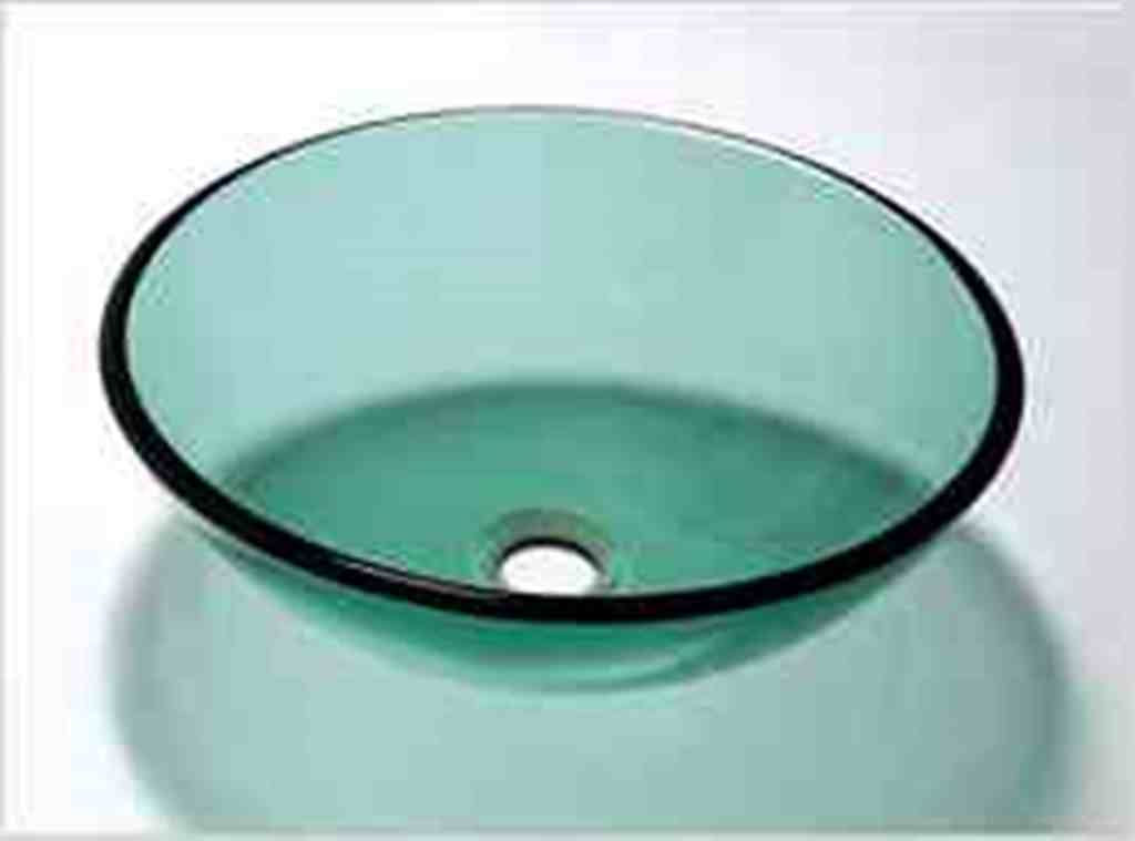 Designer Aqua green round circle glass basin sink Product No. ZK702