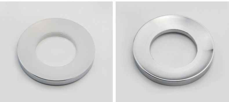 Glass basin stainless steel Mounting Ring Chrome Drain Spacer Product No. ZK 53