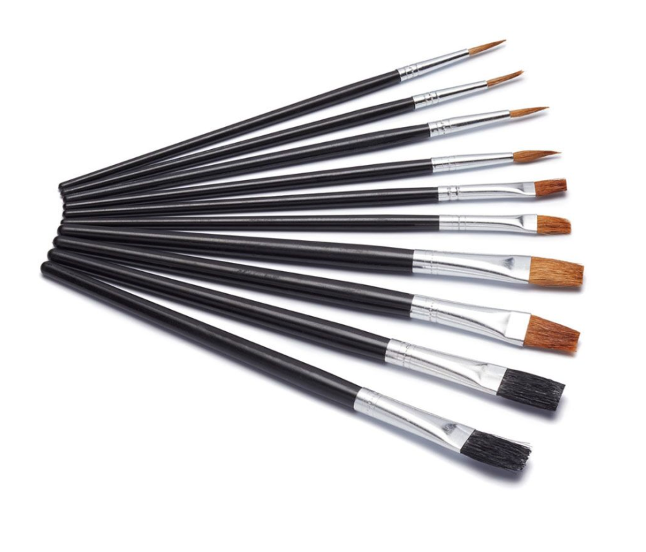 Harris Hobby & Craft 10 Flat Artists Brushes Seriously Good