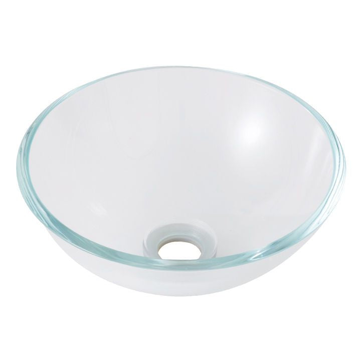 PREMIUM SMALL CRYSTAL CLEAR GLASS BASIN WASH BOWL  310mm ZK310cr