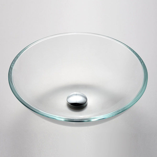 PREMIUM LARGE CRYSTAL CLEAR GLASS BASIN WASH BOWL 420mm ZK 420CR
