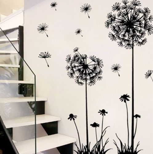 Hot black adornment wall stickers