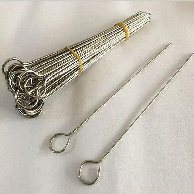 15Pcs Stainless Steel BBQ Skewers
