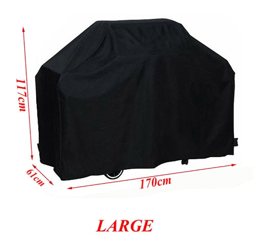 Black Waterproof BBQ Cover Accessories
