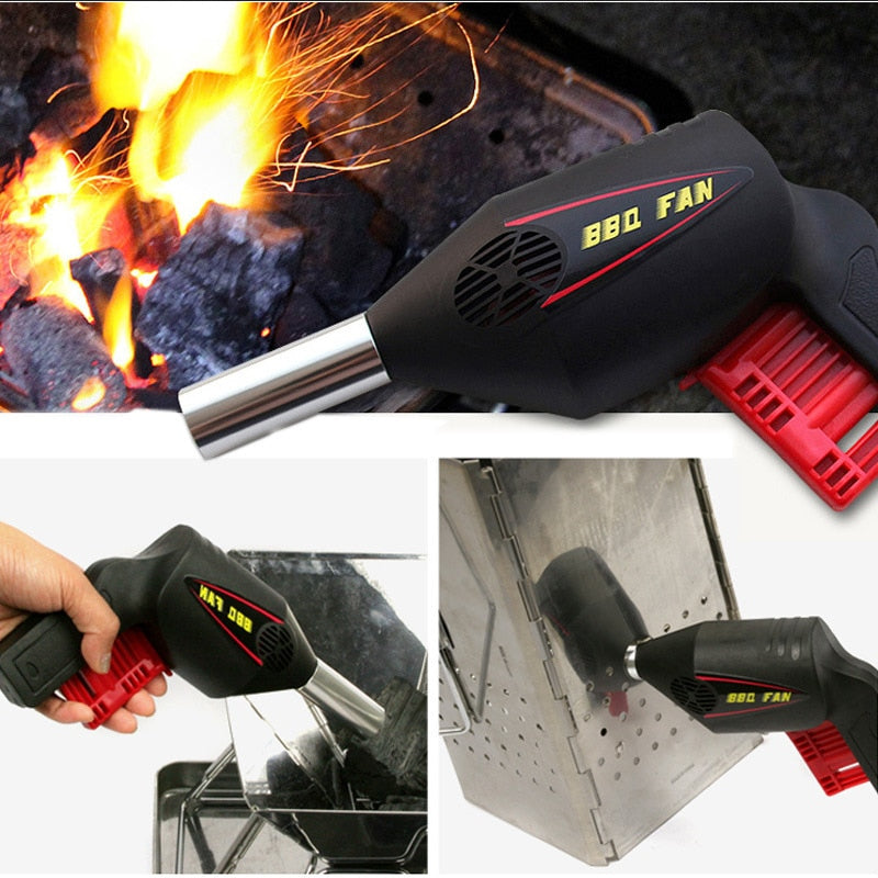Hand Press Air Blower Barbecue Tool