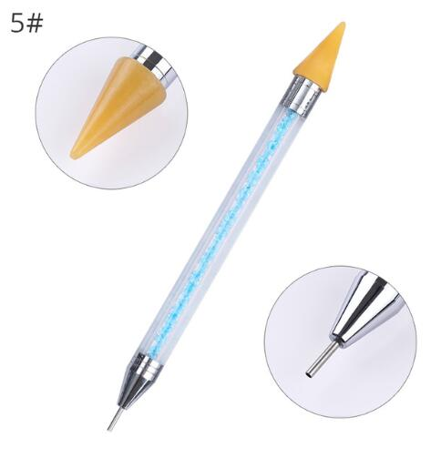 Double head crystal beads  nail pen