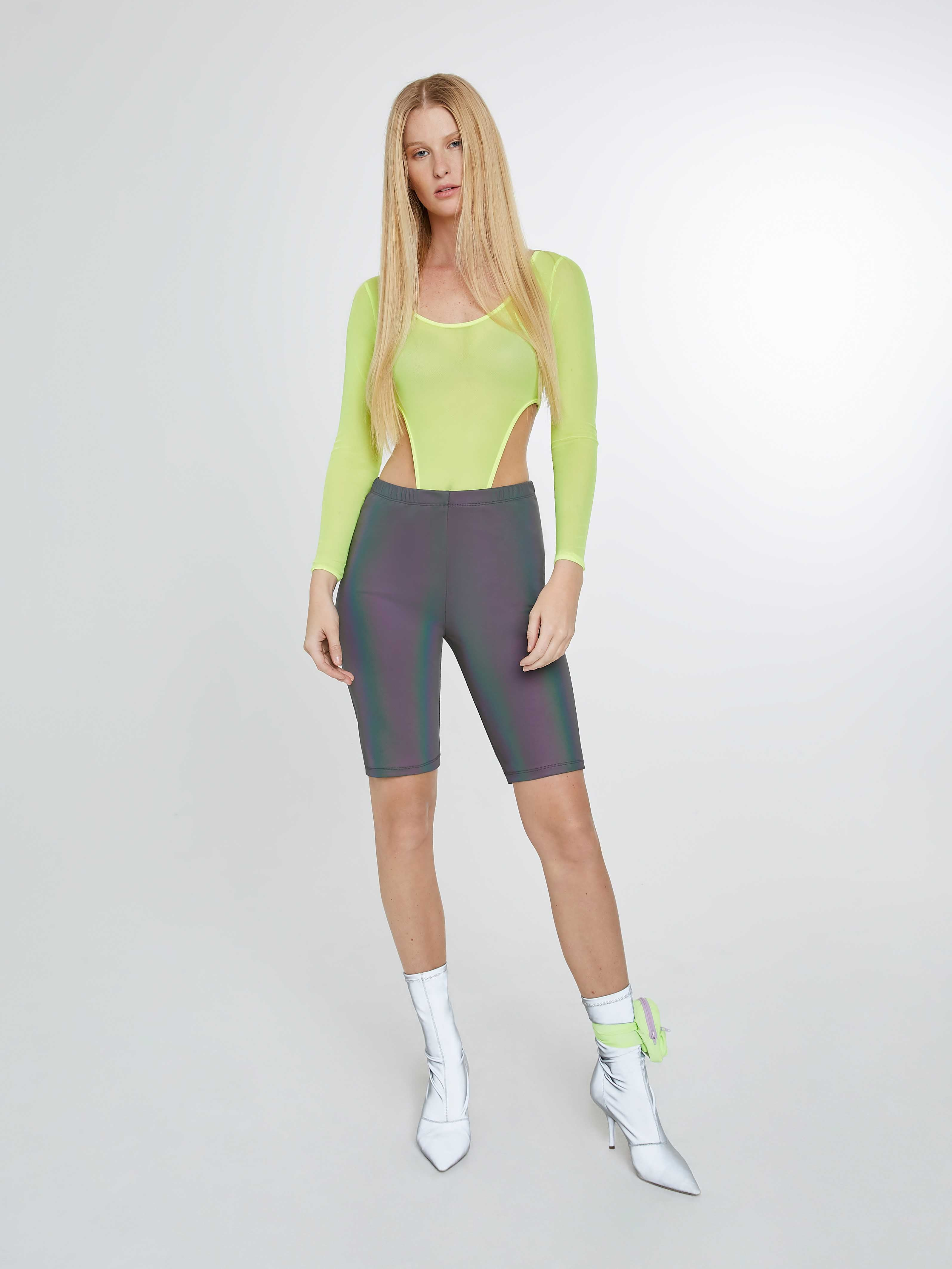 Neon Yellow mesh bodysuit