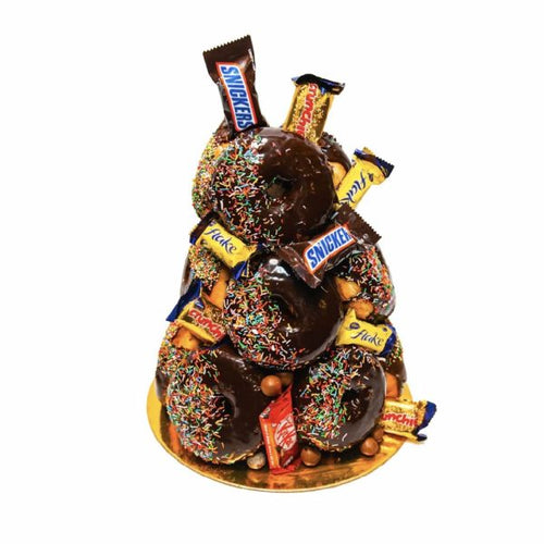Chocolate Donut Tower