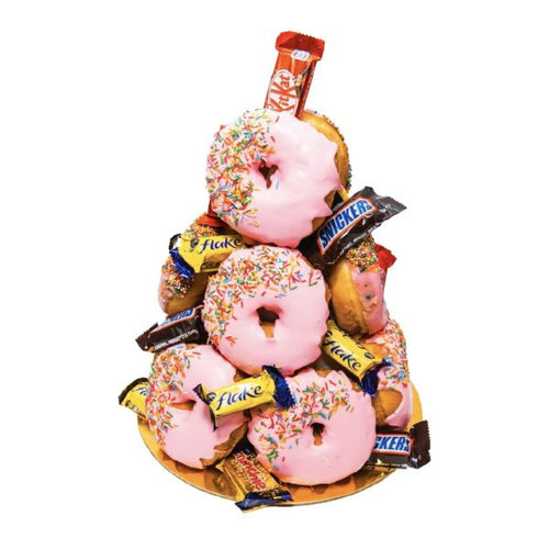 Strawberry Donut Tower