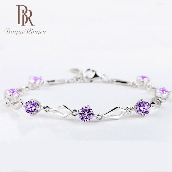 2019 New Fashion Infinity Bracelets for Women with Crystal Stones 925 Sterling Silver Charms Women's Bracelet Engagement Gifts