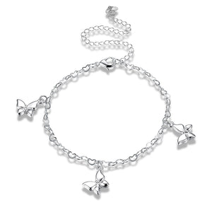 New Arrival Silver Plated Anklet for Women Handmade Les bracelets de cheville Popular Jewelry Korea Personality