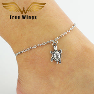 Ankle Bracelet Feet Leg Silver Chain Animal Turtle Anklets For Women Barefoot Sandals Bohemian Silver Anklet Foot Jewelry B2