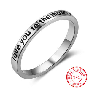 925 Sterling Silver Rings For Women  Letters Love Silver Jewelry Fashion Promise Rings Wedding Rings 2017 New (RI102759)