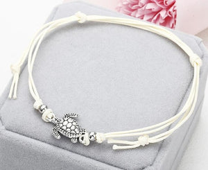 NS37 Summer Beach Turtle Shaped Charm Rope String Anklets For Women Ankle Bracelet Woman Sandals On the Leg Chain Foot Jewelry