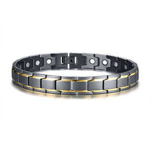 Men's Magnetic Therapy Anklet 316L Stainless Steel Male Jewelry with Healing Magnets for Arthritis Pain Relief