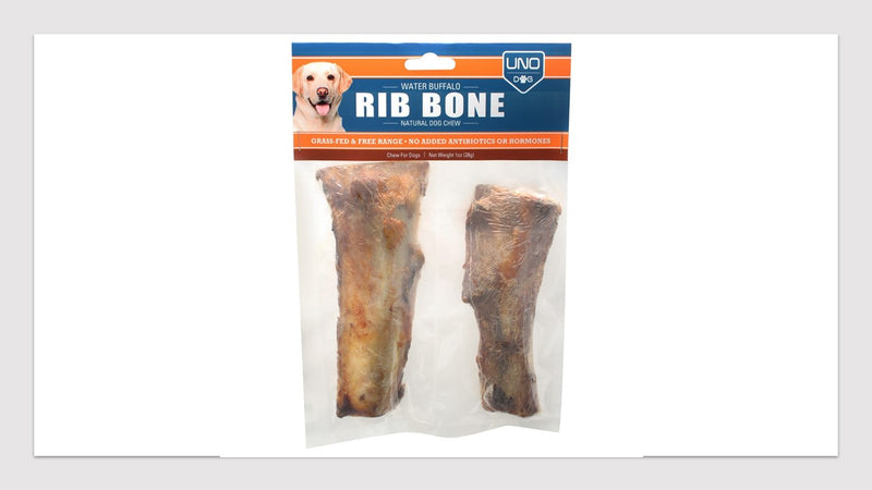 100% Natural Grass-Fed Buffalo Rib Bone