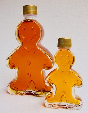 Maple Syrup in Gingerbread Person Bottles