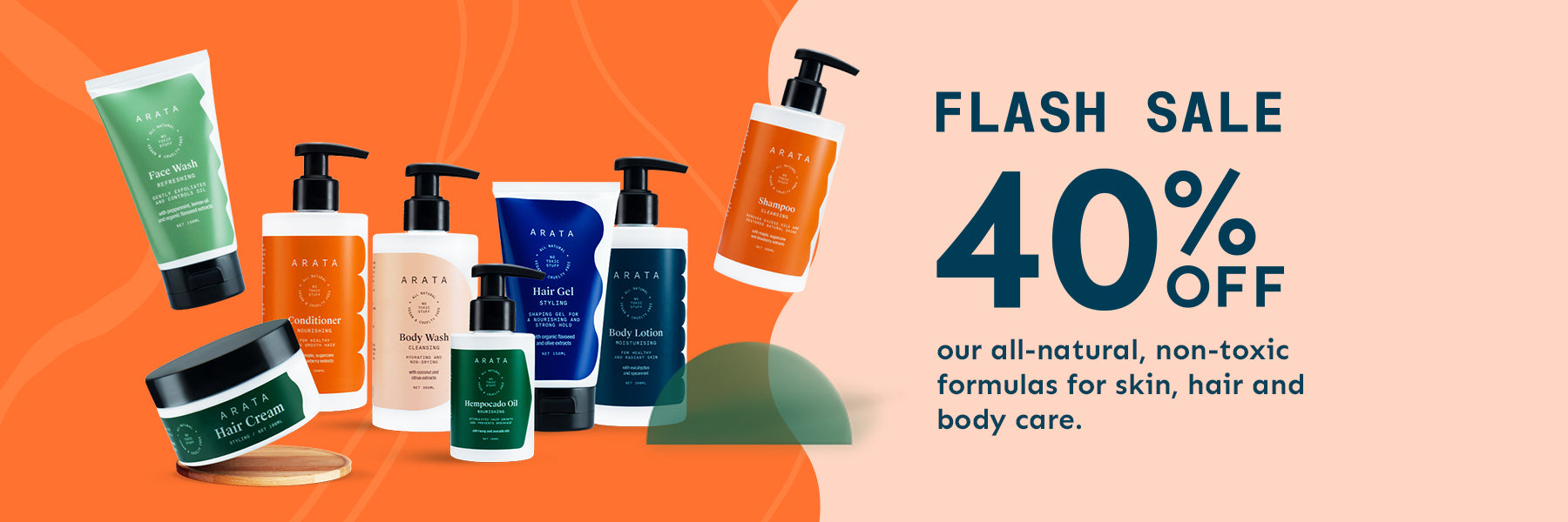 arata.in - Flash Sale – Get 40% Discount on Body Care and hair care