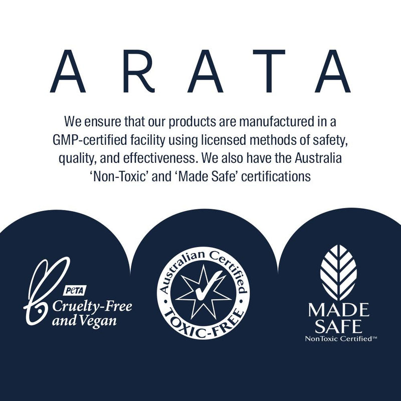 Arata Hydrating Shampoo Certifications