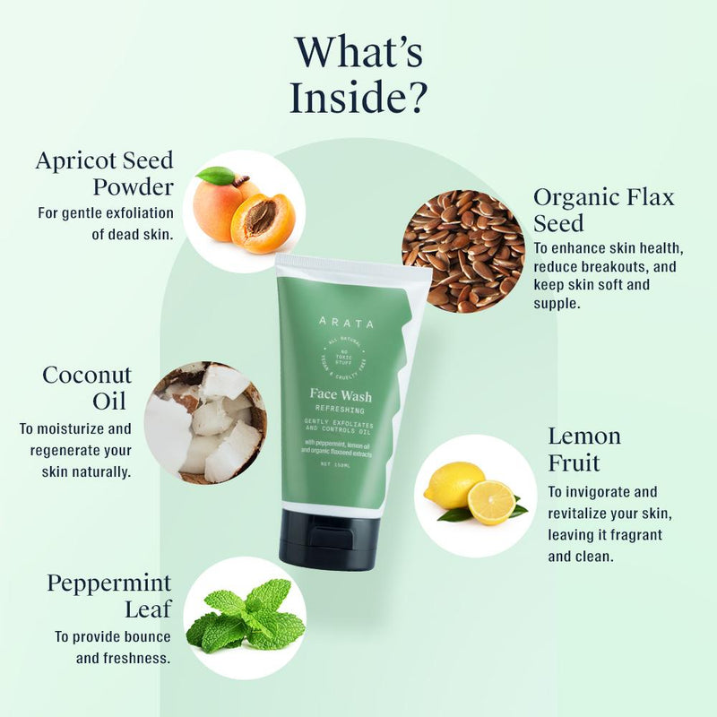 Arata Face Wash Ingredients
