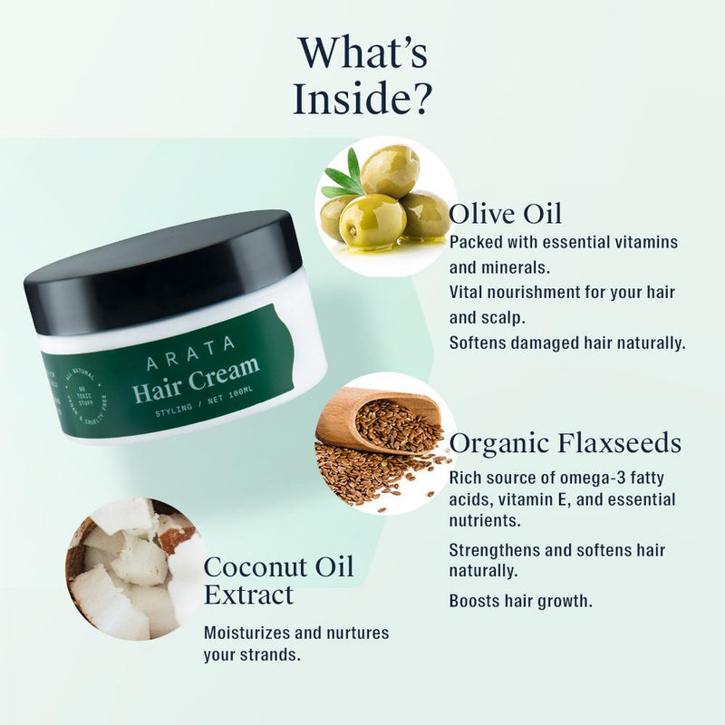 Arata Hair Cream Ingredients