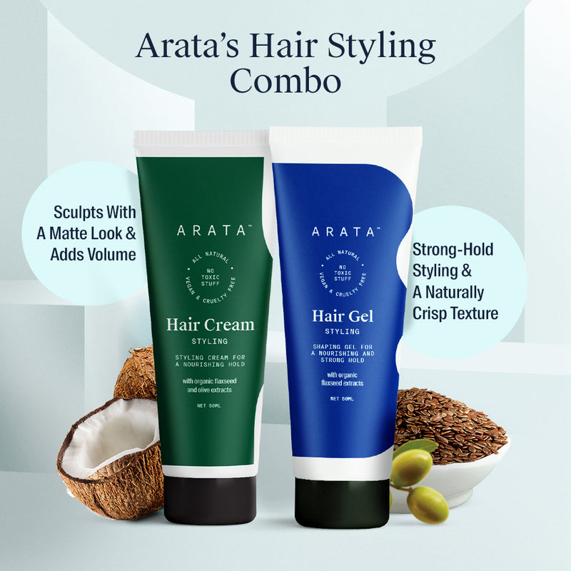 Arata Hair Styling Combo 50 ML