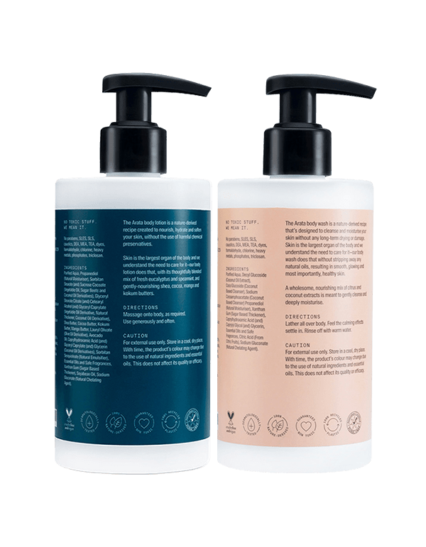 Arata Body Care Set (Body Lotion & Body Wash) - Arata