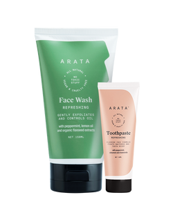 Arata Facewash & Toothpaste combo ( Face Wash 150ml, Toothpaste 50ml)