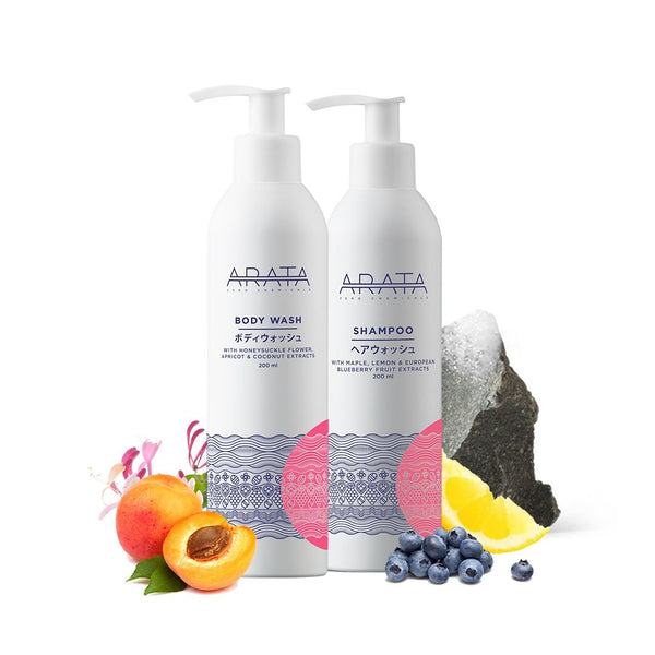 Arata Natural Body Wash and Shampoo Combo