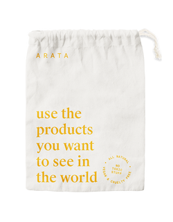 Arata Travel Pouch: Use the products you want to see in the world