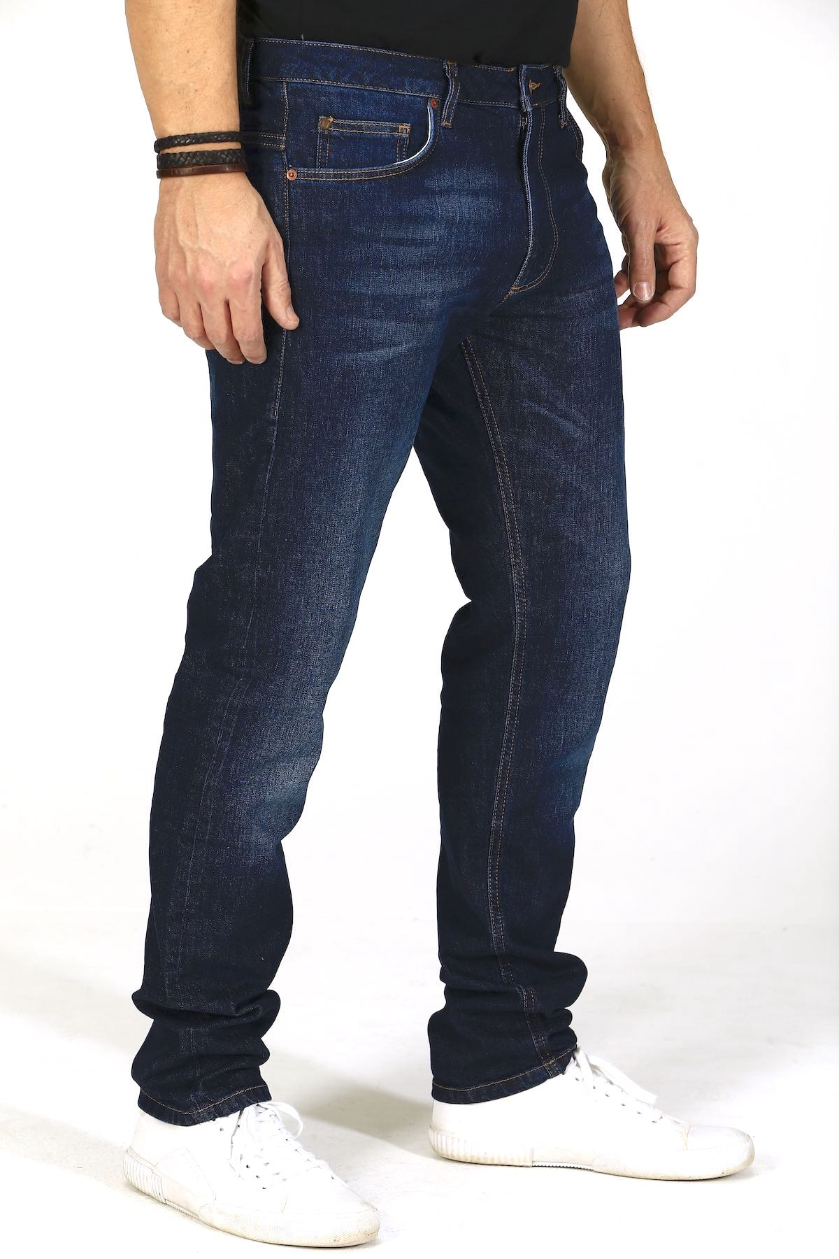Slim Fit - Dark Indigo Herren-Jeans